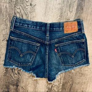 Levi's 501 Cut Off Denim Shorts Size 27 Like New